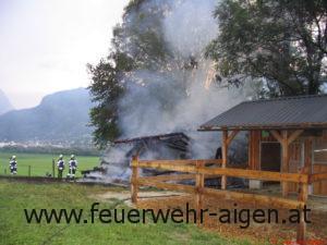 Wirtschaftsgebäudebrand Prieler Hohenberg 2009